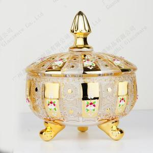 Electroplating glass candy jar