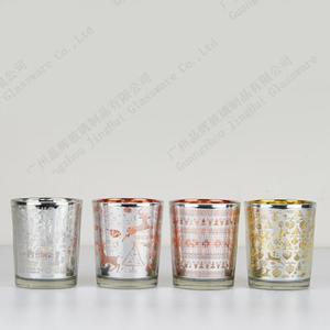 Candle cups with electroplating and lase