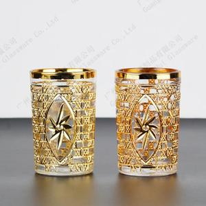 Electroplating golden glass cups