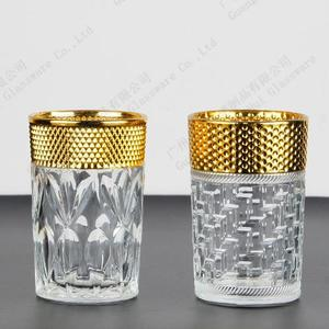 Electroplating glass cups