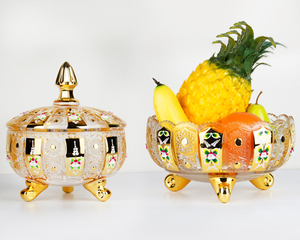 Golden fruit bowl