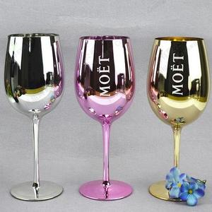 Electroplating wine glass