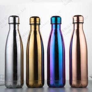Electroplating glass bottles